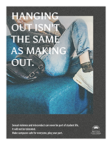 Sexual Violence and Misconduct Prevention campaign