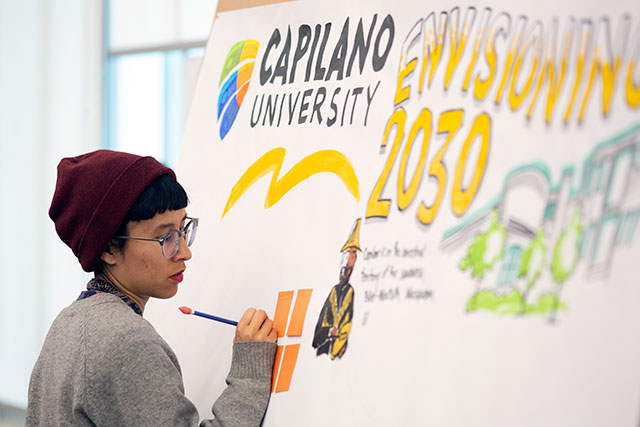 "Capilano University hosts ""Envisioning 2030: Shaping CapU's Future Together"" on Tuesday, April 9, 2019."