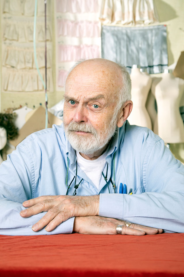 Fashion historian and guest lecturer Ivan Sayers on Feb. 20.