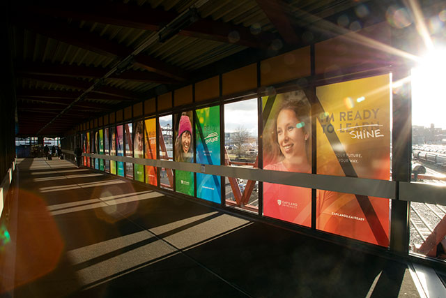 Capilano University's 2020 brand campaign is seen at Waterfront Station on Feb. 14, 2020. (Photo by Tae Hoon Kim)