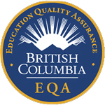 Logo of British Columbia's Education Quality Assurance (EQA) designation. This is Canada's first and only provincial brand of quality for post-secondary education.